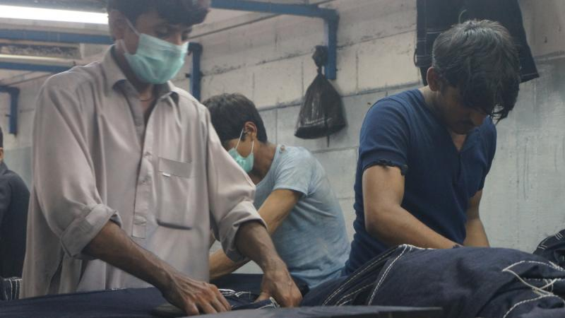 Textilproduktion in Pakistan.