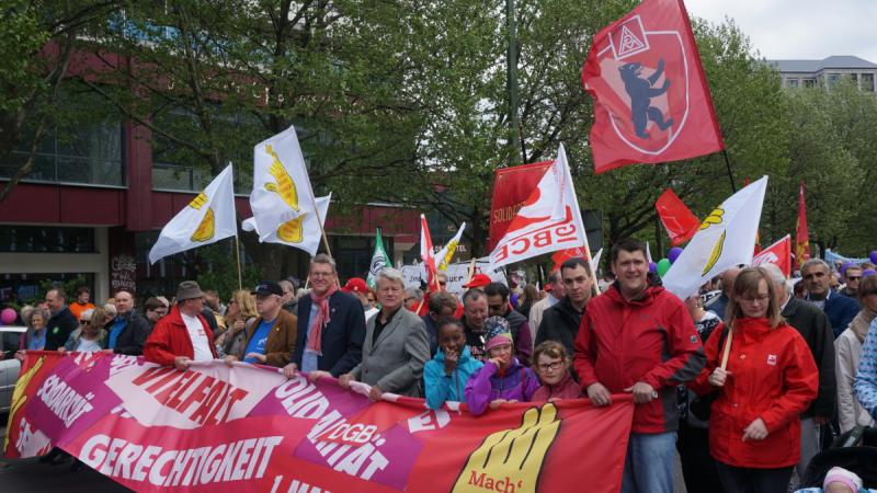 Demonstration am 1. Mai